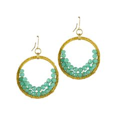I love the Mata Traders Beaded Crescent Moon Earrings from LittleBlackBag