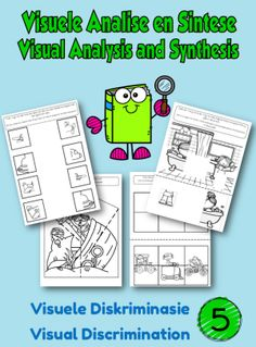 Visual Perception Book Visual Analysis and Synthesis - School Diva Visual Memory, Take Apart, Perception, Book 1, Education, Children, Young Children, Boys, Kids