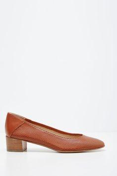 Carel  - Sapatos de salto de couro Janis Castanho