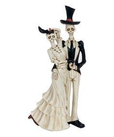 Another great find on #zulily! Dapper Skeleton Couple Figurine #zulilyfinds