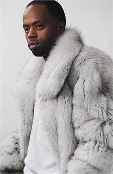 Full Skin white Fox Fur Coat
