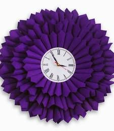 Buy bloom clock purple home-acccessory online, Buy home-acccessories online