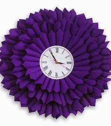 Buy bloom clock purple home-acccessory online, Buy home-acccessories online