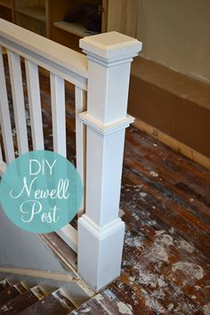 Ideas For Building Stairs Diy Newel Posts Stair Newel Post, Stair Posts, Newel Posts, Staircase Makeover, Staircase Railings, Staircases, Banisters, Staircase Walls, Handrail Ideas