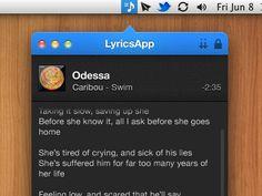 Dribbble - Lyrics App by Marco Moreno Tired Of Crying, App Design, Pattern Design, Lyrics, Calendar, Menu, Feelings, Menu Board Design, Song Lyrics