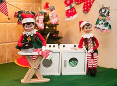 Elf on the Shelf Ideas. Elf laundry day. To view more pins like this one, search for Pinterest user amywelsh18.