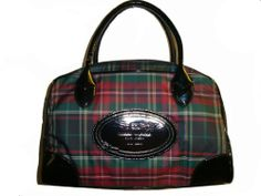 Women's Tommy Hilfiger Satchel Handbag (Red Plaid/Black)