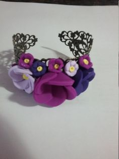 Royal Bracelet 2017-Superb Design, Flowers, Purple, Violet, Stylish look, Eyes catch,Gift Aish Jewelry,Perfect gift for her, Lovely bracelet by GiftAishaJewelry on Etsy Perfect Gift For Her, Gifts For Her, Wonderful Flowers, Hand Coloring, Handmade Bracelets, Eyes, Stylish, Purple, Jewelry