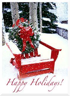 Christmas Adirondack chair