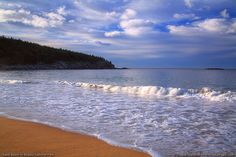 Sand Beach is a popular location in Acadia National Park
