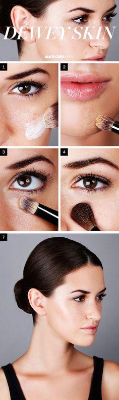 How-to Dewy Skin Makeup Look - How to Get Dewy Skin