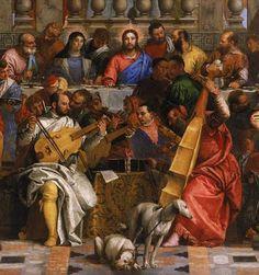 TICMUSart: Las bodas de Caná - Paolo Veronese (1563) (detalle) (I.M.)