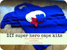 Super Hero Capes: diy FELT birthday party favors set of 10. $35.00, via Etsy.