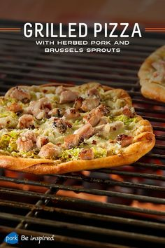 These white mini pizzas are very versatile. You can substitute other cuts of cooked pork (roast… via Wisconsin Pork Association #yummy #pork