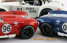 Slot Cars, MRRC AC Cobra 427 Semi Competition - MRRC 0002 Red Racing #96, MRRC 0005 Team Shelby #00 and MRRC 0010 Elkhart Lake #91  See 40 more amazing photographs at: http://manicslots.blogspot.com.au/2014/01/gallery-mrrc-ac-cobra-427-sc.html#sthash.rqy6c5Gg.dpuf