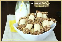 Toffee Almond Cookies