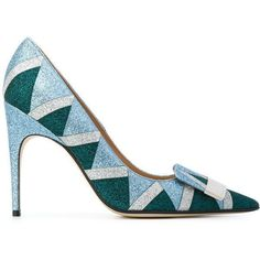 Sergio Rossi glitter detail pumps ($440) ❤ liked on Polyvore featuring shoes, pumps, blue, sergio rossi, leather footwear, leather pumps, blue glitter shoes and blue leather pumps #sergiorossipumps