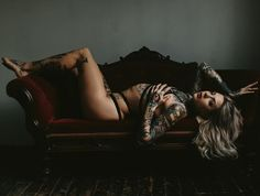 Intimate Portraits by Brandon Scott #boudoir #tattoos #ink