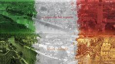 """Arte: Iretaly """"Ei sogni che hai sognato, bheith reáltacht""""  Software Utilizado: Photoshop CS6 Sobre o Projeto: Manipulação / Composição de imagens, unindo a bandeira da Itália (sobreposta sobre a cidade de Verona) e a bandeira da Irlanda (sobreposta sobre a cidade de Dublin)."""
