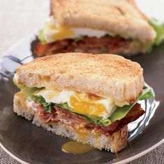Thomas Keller's scrumptious BLT Fried Egg-and-Cheese Sandwich is over-the-top in. Thomas Keller's scrumptious BLT Fried Egg-and-Cheese Sandwich is over-the-top in the best way: It Egg And Cheese Sandwich, Cheese Sandwich Recipes, Soup And Sandwich, Sandwich Ideas, Bacon Sandwiches, Grilled Sandwich, Lettuce Sandwich, Corn Sandwich, Gourmet Sandwiches