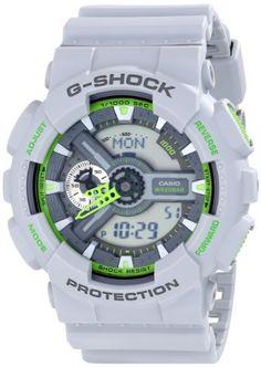 Casio Men's GA-110TS-8A3CR G-Shock Analog-Digital Display Quartz Grey Watch Casio http://tinyurl.com/pedona5 #convann2