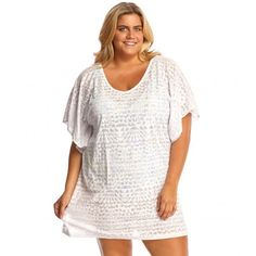 246ea11473 Dotti Plus Geo Muse Flutter Cover Up White Beachwear Fashion, Beachwear For  Women, Sleeve