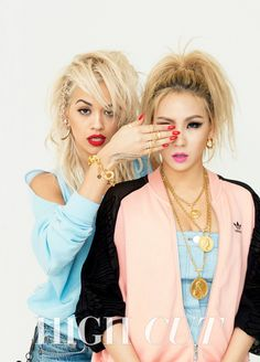 2NE1's CL Teams Up with Rita Ora for Fierce High Cut Pictorial