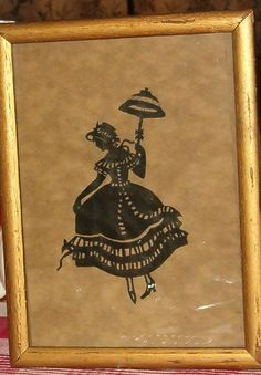 Vintage Silhouette Ink Picture