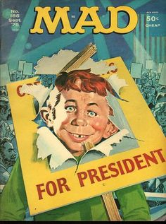 September 1976 Mad Magazine cover illlustration by Norman Mingo.