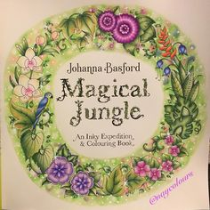 Title page #magicaljungle #johannabasford #polychromos #prismacolors…