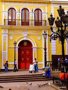 La Casa Amarilla de Caracas, se encuentra frente a la Plaza Bolívar de Caracas y la Catedral, en la esquina principal del casco histórico de la ciudad.