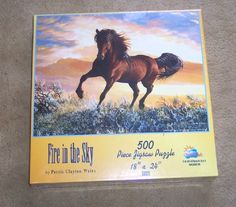 Fire in the Sky Horse Jigsaw Puzzle 500 Pieces