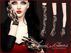 #Sims3 | Pralinesims' Laced Gloves
