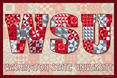 The Quilted Washington State University. Susan Davis, owner of Olde American Antiques and American Quilt Blocks, has created a series of original quilt block designs for universities and colleges in the United States. Each of these designs is unique with a distinct color combination using the school colors and a matching border to enhance the overall pattern. These are the first quilt block designs created specifically for universities and colleges and are new to the quilting hobby.