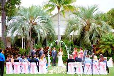 Beautiful wedding ceremony at Twin Waters Golf Club