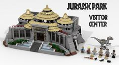 Though Jurassic World has a few LEGO sets on shelves, the original film never got the block treatment. So check out this LEGO Jurassic Park visitor center. Lego Jurassic Park, Jurassic Park World, Lego Jurassic World Dinosaurs, Jurassic Movies, Lego Modular, Lego Motorbike, Jurrassic Park, Box Container, Cool Lego Creations