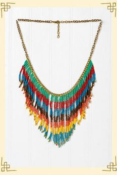 native feather necklace.