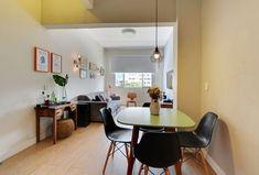 Decoração prática e colorida transforma apartamento alugado