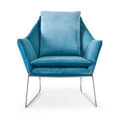 Saba Italia: New York Chair Blue