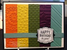 stampin up birthday card featuring the label love stamp set. sizzix big shot.
