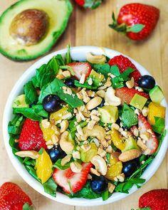 GeCook: Strawberry spinach salad