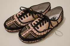 Freakin, Exciting art on shoes that would otherwise be plain boriiiiing! -Vans // Fashion Week Berlin on Behance