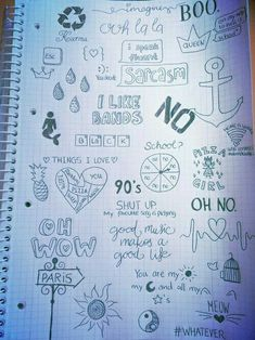 40 Between The Gaps Notebook Art Inspirations For Hidden Artists - Bored Art - Books Worth Reading Doodles easy Tumblr Drawings, Small Drawings, Doodle Drawings, Easy Drawings, Doodle Art, Drawing Sketches, Lyric Drawings, Notebook Art, Notebook Doodles