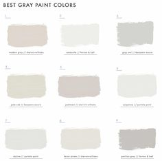 All grays are not created equal and there is a fine line between calming and just plain sad. So we are here to show you how to choose the right gray paint. Paint Colors For Living Room, Paint Colors For Home, House Colors, Best Gray Paint Color, Beige Paint, Pavilion Grey, Parachute Home, Great Backgrounds, Warm Undertone