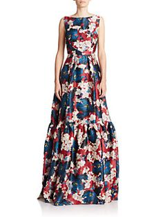 Erdem - Alouette Tiered Floral Silk Gown