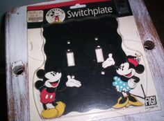 Vintage Disney Mickey Mouse & Minnie Mouse Double Light Switchplate. $7.00, via Etsy.
