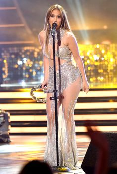 """Jennifer Lopez onstage at the """"American Idol"""" XIV grand finale."""