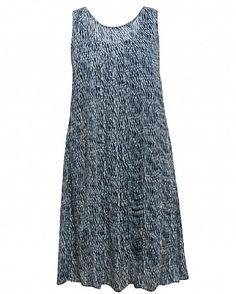 Shibori Wave Shift Dress