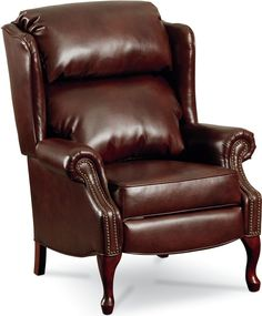 Savannah High-Leg Recliner (Nailhead Trim) Give your living room a sophisticated look by adding the Savannah High-Leg Recliner (Nailhead Trim). Styling includes distinctive wingback sides, rolled arms, and Queen Anne-shaped legs with a cherry finish. Part of the Classics Collection, the Savannah demonstrates Lane's expertise with better upholstery and comfort. It's a secret worth revealing when you lean back in style. Save his seat for yourself.