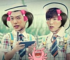 "Lee Min Ho and Kim Woo Bin ♡ #Kdrama - ""HEIRS"" / ""THE INHERITORS"" // looking for Shinhye-Rella"